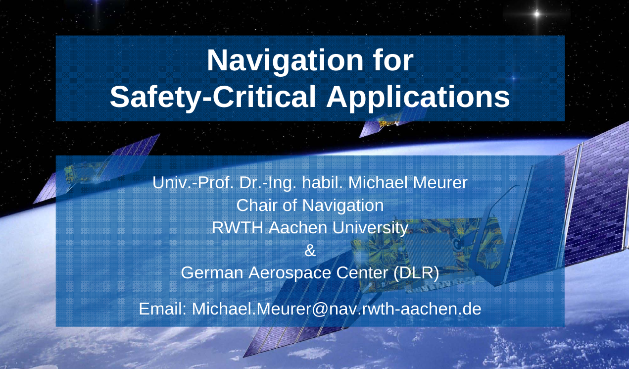 Navigation for Safety-Critical Applications